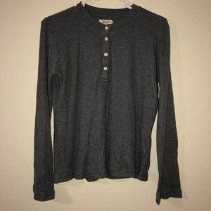 MADEWELL Gray Thermal Knit Long Sleeve Henley S